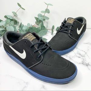 NIKE Skater Sneakers Black Suede Size 9